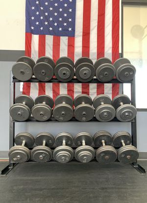 890 LB DUMBBELL SET▪️ PRO STYLE 🇺🇸 20   25   30   35   40   45   50   55   60   65 ▪️ WEIGHTS▪️ HOME GYM▪️ FITNESS for Sale in Phoenix, AZ