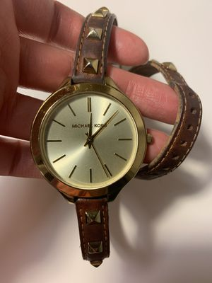 Michael Kors Gold and Leather Watch for Sale in Columbus, OH