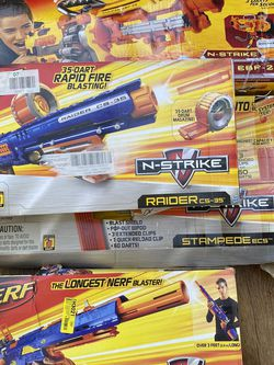 Nerf Longstrike Vulcan Stampede Raider N-Strike for Sale in Pasadena,  CA