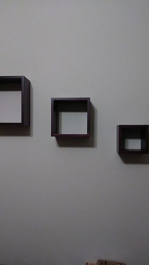 Set of 3 wall shelves great for collectibles. for Sale in Miami, FL