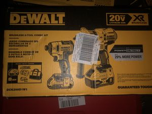 DeWalt 20v XR impact and drill with 8.0, 2.0 batteries and fast charger (new in box) for Sale in Escondido, CA