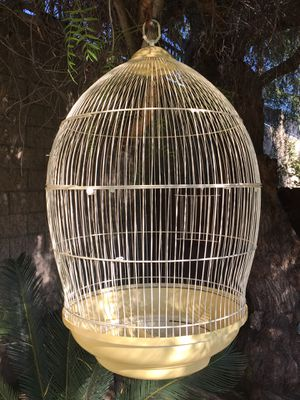 Charming Large Round Dome Top Bird Cage. It's bigger in person. for Sale in Pasadena, CA