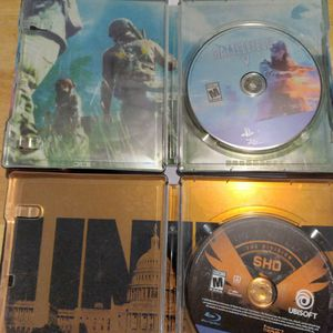 2 PS4 games THE DIVISION 2 & BATTLEFIELD V Both Steelbook Cases for Sale in Salinas, CA