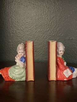 Vintage Ceramic Bookends Victorian Japan for Sale in Claremont,  CA