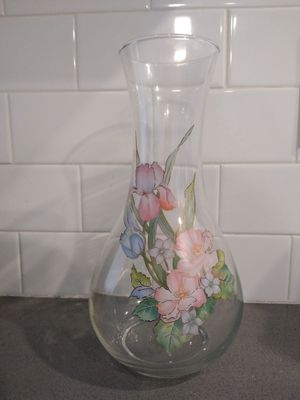 Libbey glass company flower painted vase for Sale in Highland, UT