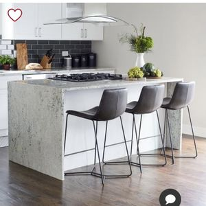 West Elm Slope Leather Bar Stool for Sale in Alamo, CA