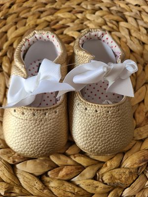 Gold baby girl shoes for Sale in South Gate, CA