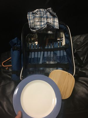 Coolest picnic backpack with everything including blanket needed for Sale in Virginia Beach, VA