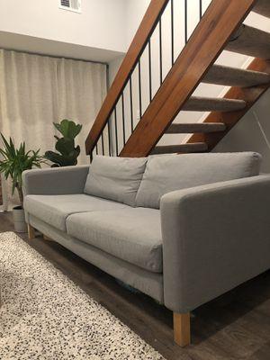 IKEA Karlstad couch grey for Sale in Alexandria, VA