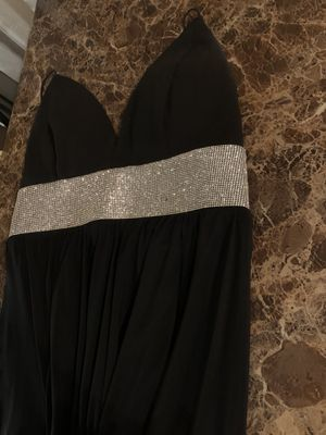 Romwe long black slit dress size M for Sale in Fresno, CA