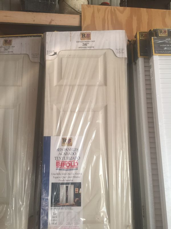 New bifold closet doors