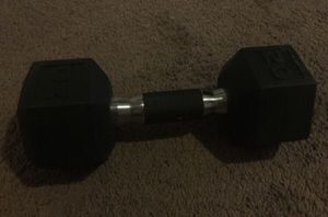 20 pound rubber hex dumbbell for Sale in Los Angeles, CA