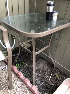 patio furniture set Table and 2 tall Chairs Excellent for Sale in Houston, TX