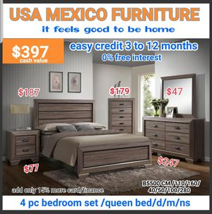BRAND NEW QUEEN SIZE BEDROOM SET ( NEW FURNITURE AND MATTRESS AVAILABLE ) for Sale in Montclair, CA
