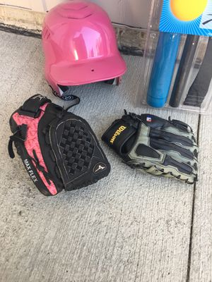 Baseball helmet and gloves for Sale in Strongsville, OH