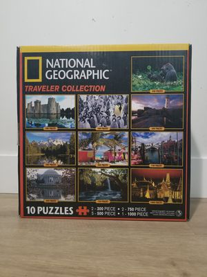 National Geographic Traveller Collection Puzzle Set for Sale in Scottsdale, AZ
