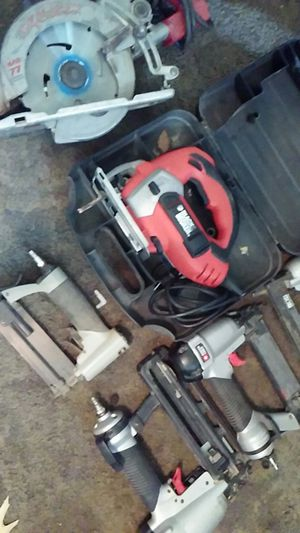 3 porter cable. Nail guns black and Decker. Saw for Sale in Kansas City, MO