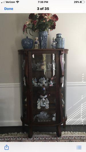 Antique wood curio cabinet for Sale in Falls Church, VA