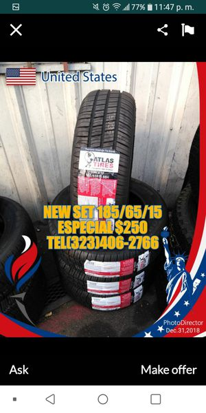 NEW TIRES SET 2 YEARS GARANTY for Sale in Los Angeles, CA
