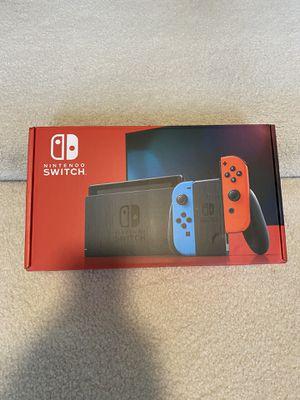 Brand New Nintendo - Switch (V2) 32GB Console - Neon Red/Neon Blue Joy-Con for Sale in Charlotte, NC