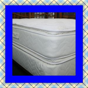 Twin mattress double pillowtop and box spring free shipping for Sale in Ashburn, VA