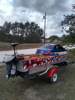 14 boat and trailer for Sale in Avon Park, FL