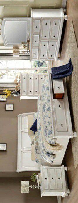 Best offer Laurelin White Storage Platform Sleigh Bedroom Set for Sale in Silver Spring, MD