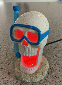Fish Tank Decoration - Skeleton Skull Snorkel Mask With Lights for Sale in San Jose,  CA