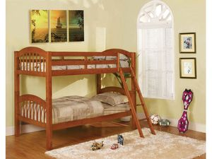 Oak twin /twin bunk bed with mattress only $399 for Sale in Fresno, CA