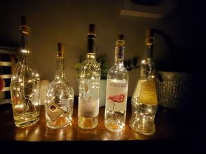 Lighted wine bottle decorations for Sale in Long Beach, CA
