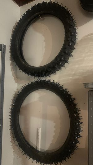 Dirt bike tires!! Made for snow for Sale in Littleton, CO