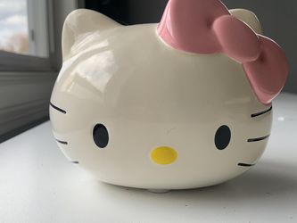 "Ceramic Hello Kitty Pink Bow Piggy Bank - SANRIO 4.5"" Tall for Sale in Kirkland,  WA"