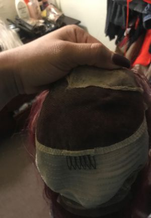 Brand new burgundy lace front wig great condition all human hair for Sale in Los Angeles, CA