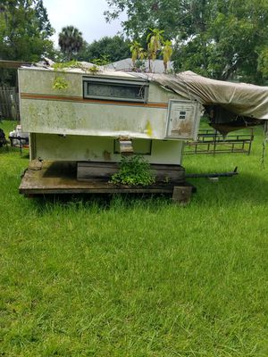 Truck bed camper on trailer. $100 for Sale in Parrish, FL