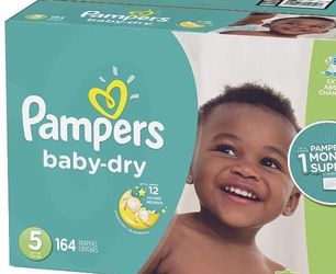 Pampers Baby Dry size 5 diapers- pañales for Sale in Downey,  CA