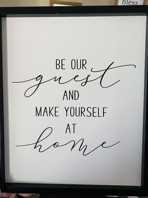 Guest Room Wall Decor Sign for Sale in Victorville, CA