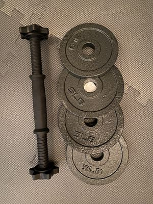 Adjustable dumbbell 20 lb, new for Sale in Lexington, KY