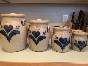 Rowe pottery canisters, 4 pieces for Sale in Lacey, WA