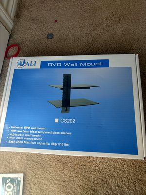 WALI DVD wall mount glass shelf for Sale in Fort Worth, TX