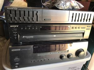 Kenwood Sony stereo system - receiver, equalizer and 5 disk CD/DVD/MP3 for Sale in San Diego, CA