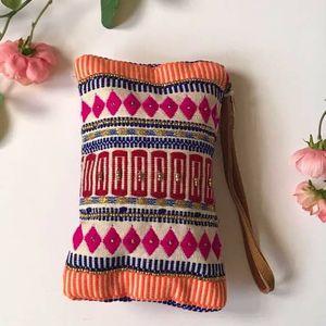 Vivid Ethnic Pattern Clutch Chiara bag wristlet for Sale in GRANT VLKRIA, FL