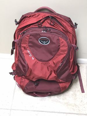 Osprey Ozone 46 backpack travel day pack hiking travel like new used once for Sale in Phoenix, AZ