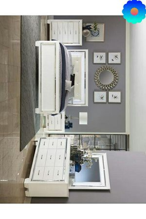 Bruckneudorf White LED Panel Bedroom Set | no mattress for Sale in Killeen, TX