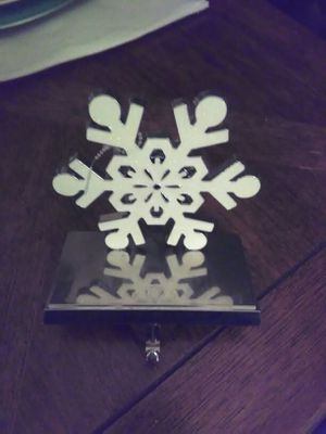 Snowflake stocking holder for Sale in Durham, NC