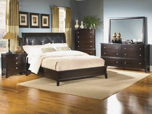 Queen bed frame and dresser with mirror for Sale in Saint Cloud, MN