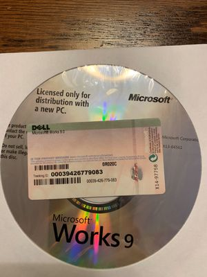 Microsoft Works 9 CD for Sale in Quincy, IL