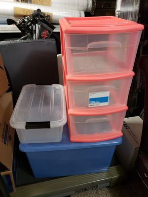 Home Organizers Storage Containers . Minus the blue container for Sale in Houston, TX