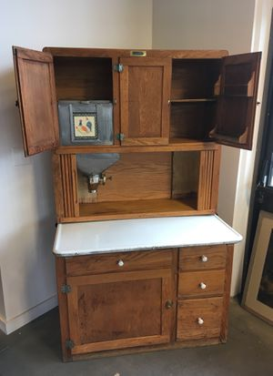 Antique Bakers Cabinet with Flour Mill for Sale in Portland, OR