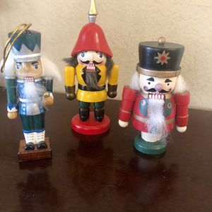 """3 nutcrackers, small in great condition dim. 5"""", 5 1/4 and 6 1/2"""". All for $12 or $ 5 each for Sale in Rancho Cucamonga, CA"""