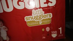 Huggies 198 count size one for Sale in Quincy, MA